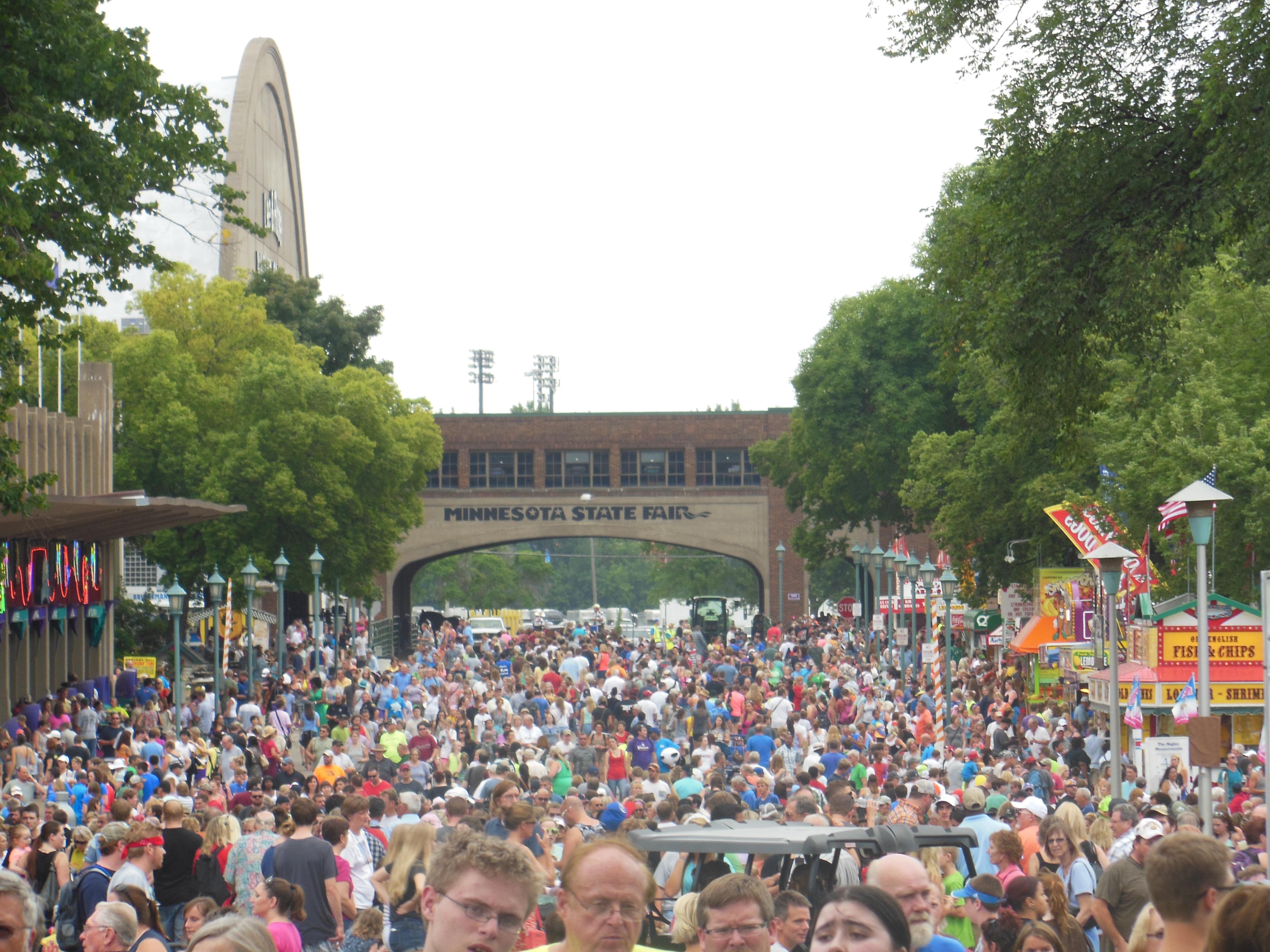 state fair crowd