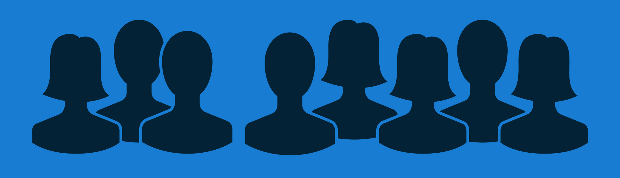 group of silhouette people icons