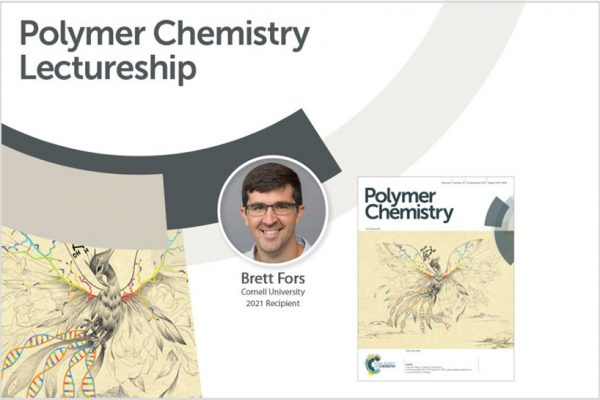 Fors named recipient of the 2021 Polymer Chemistry lectureship